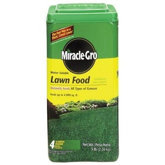 Scotts 100183 Miracle Gro Lawn Food 5 Lb 4000 Sq Ft