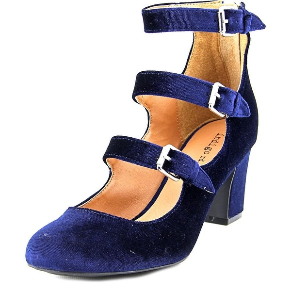 Indigo Rd. Ellie Women Round Toe Canvas Blue Heels