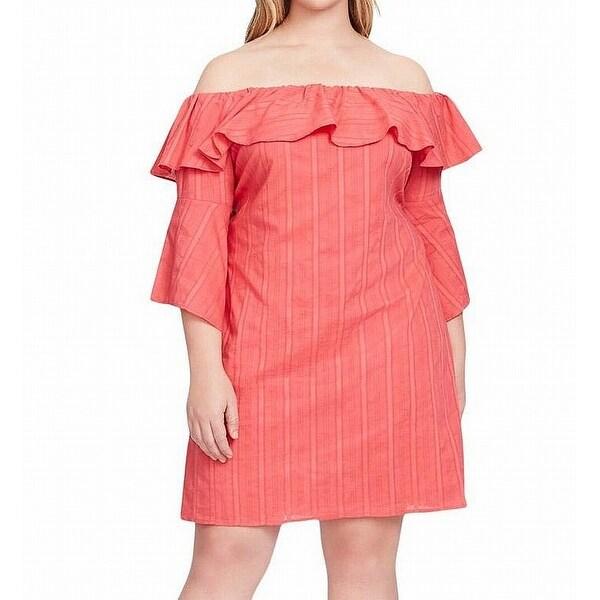 201b2f5b Shop Jessica Simpson Red Women's Size 2X Plus Ruffled Sheath Dress ...