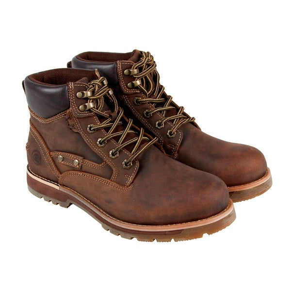 GBX Guthrie Mens Tan Leather Casual Dress Lace Up Boots Shoes