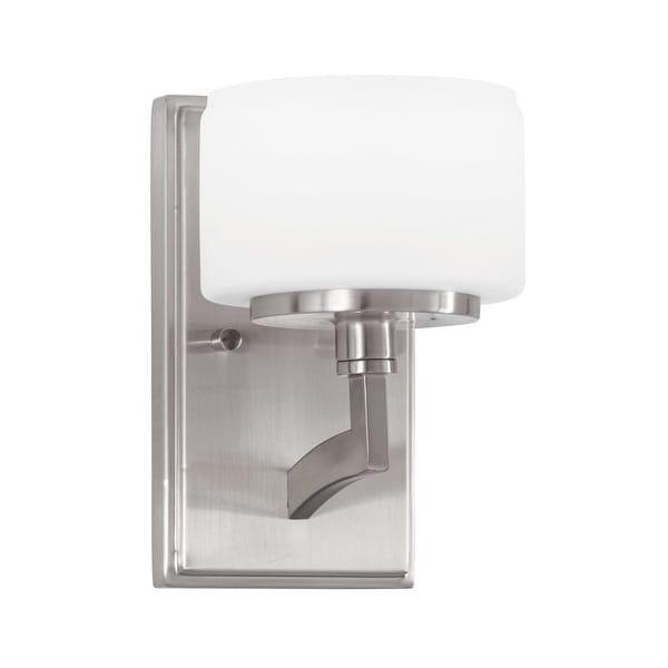 Park Harbor Phvl2181 Haverford 8 Tall 1 Light Bathroom Fixture Brushed Nickel