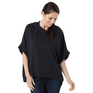 Alternative Apparel Womens Nomad Cape Hoodie French Terry Hi-Low