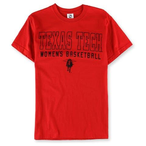 New Agenda Womens Texas Tech Womens Basketball Graphic T-Shirt, Red, Small