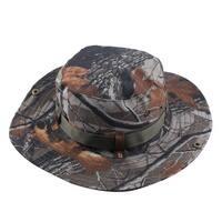 Adjustable Strap Wide Brim Protector Bucket Summer Cap Fishing Hat Camouflage