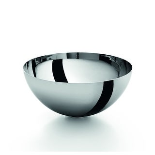 "WS Bath Collections Acquaio 53596  11-2/5"" Stainless Steel Vessel Bathroom Sink from the Linea Collection - Stainless Steel"