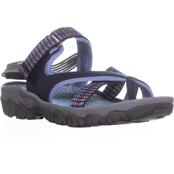 BareTraps Twila Slip On Sport Sandals, Navy/Blue - 9 us