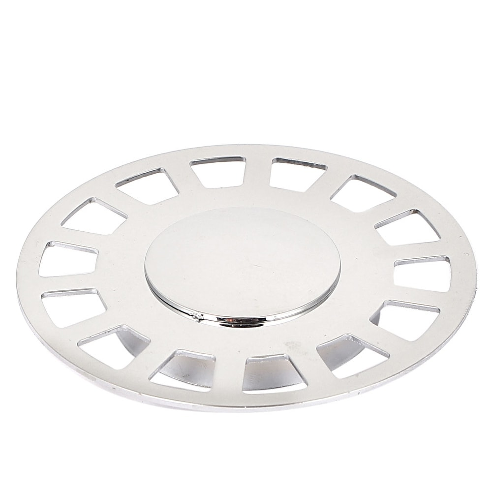 """4.4/"""" Square Shape 14 Holes Silver Tone Stainless Steel Floor Drain Cover"""