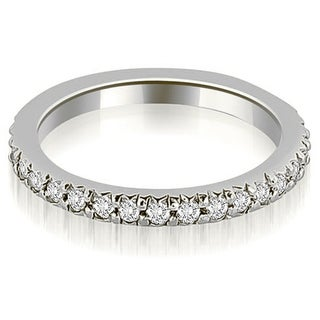 Petite 0.65 ct.tw 14K White Gold Round Cut Stackable Diamond Eternity Ring HI, SI1-2