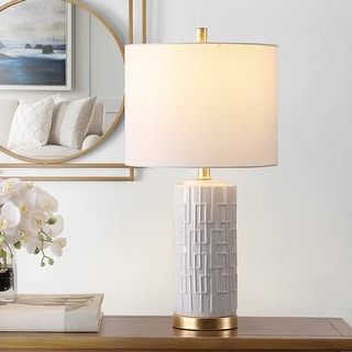 """Link to Safavieh Lighting 25-inch Pehonix Ceramic Table Lamp - 13"""" x 13"""" x 25"""" Similar Items in Table Lamps"""