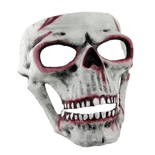 Bloody White Human Skull Full Face Adult Mask