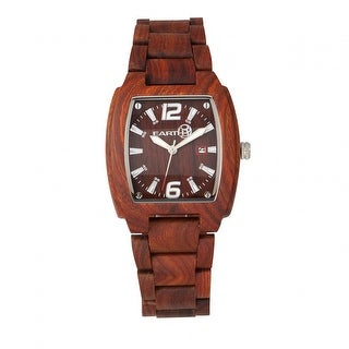 Earth Wood Sagano Unisex Quartz Watch, Wood Band, Luminous Hands