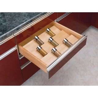 "Link to Rev-A-Shelf 4SDI-24 4SDI Series 22"" Wide Spice Drawer Insert for Up To - Natural Wood Similar Items in Kitchen Storage"