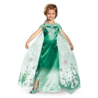 Disguise Deluxe Frozen Fever Elsa Child Costume - Green