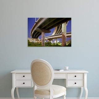 Easy Art Prints Paul Souders's 'Overpass At Dusk On Summer Evening' Premium Canvas Art