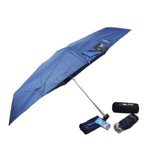 Rain Pro Compact Blue Glove Box Micro Umbrella with Zip Up Case