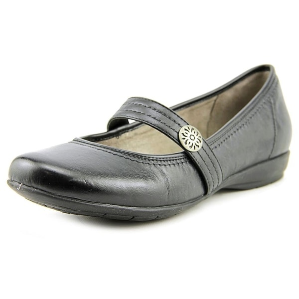Naturalizer Garrison Women W Round Toe Leather Black Mary Janes