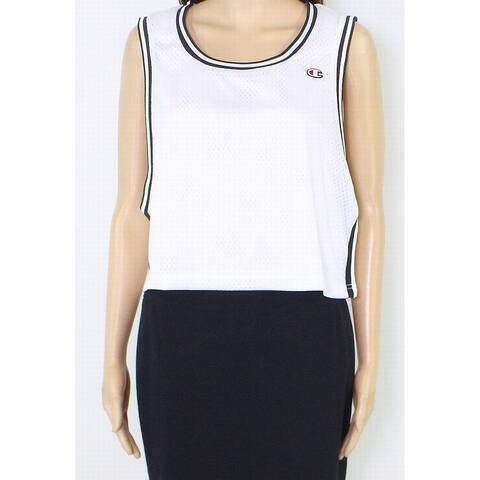 Champion Womens Tank Top White Size Small S Cropped Reversible Mesh