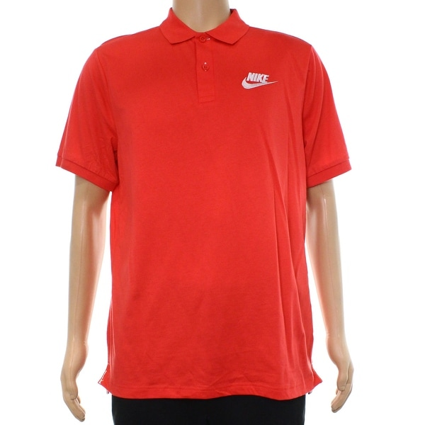 24eb009c93f2 Shop Nike Red Mens Size Large L Embroidered Polo Rugby Short Sleeve Shirt -  Free Shipping On Orders Over  45 - Overstock - 22161451