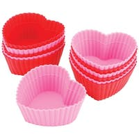 Silicone Standard Baking Cups-Heart 12/Pkg