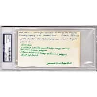 3 x 5 in. James Cool Papa Bell Signed Autographed Negro League