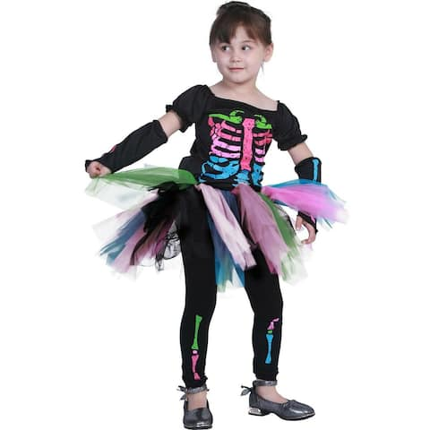 Eraspooky Kids Girls Skeleton Costume Fancy Dress Cosplay Halloween Party Funny Outfits