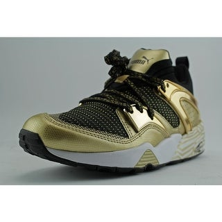 Puma Blaze of Glory Metallic Women Round Toe Canvas Gold Sneakers