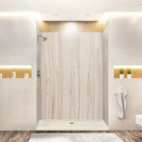 """Transolid Expressions 60-in X 32-in X 96-in Glue to Wall Shower Kit - 32"""" x 60"""" x 96"""" - 32"""" x 60"""" x 96"""""""