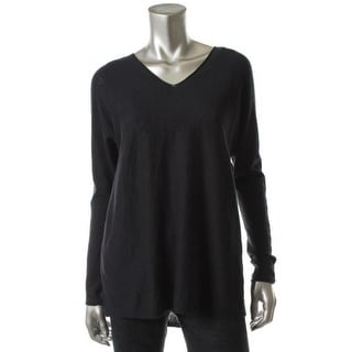 Vince Womens Cotton Heathered Tunic Sweater - S
