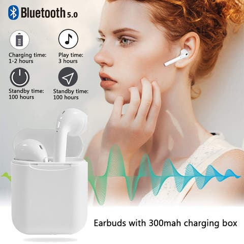 Wireless Bluetooth 5.0 Earbuds Touch TWS Earbud Headphone with Quality Auto-pairing Hand-free Earbuds with 300mah charging box