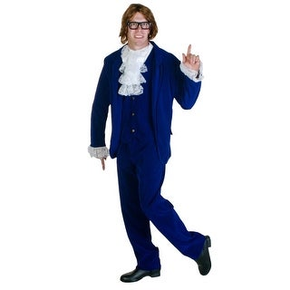 Blue Deluxe Plus Size 60's Swinger Costume