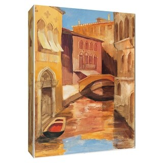 """PTM Images 9-154820  PTM Canvas Collection 10"""" x 8"""" - """"Morning on the Canal I"""" Giclee Streams & Rivers Art Print on Canvas"""