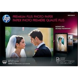 """""""HP Premium Plus Glossy Photo Paper - 11 in x 17 in HP Premium Plus Photo Paper - 11"""" x 17"""" - 80 lb Basis Weight - 300"""