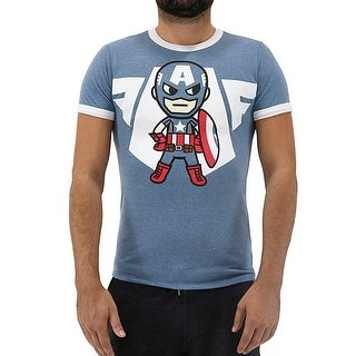 Tokidoki Marvel Captain America Emblem Men's T-Shirt