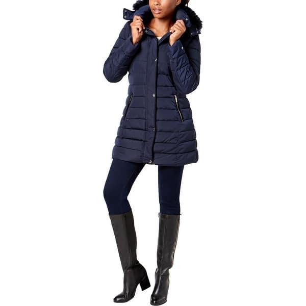 Navy Parka Coat Womens