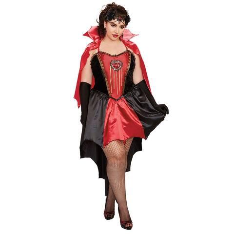 Plus Size Drop Dead Beautiful Costume - As Shown