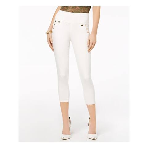 GUESS Womens Ivory Capri Wear To Work Pants Size 24 Waist