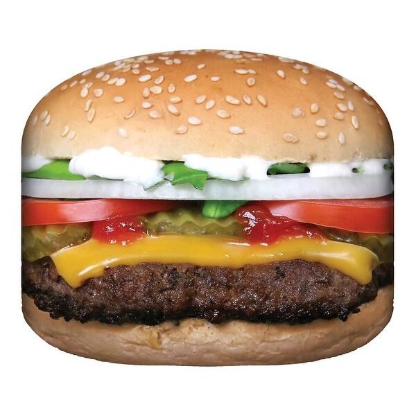 "Calhoun Sublimated Cheeseburger Blanket - Photorealistic Food Throw - 60"" Diameter - 60 in x 60 in"