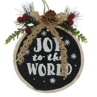 Joy to the World Chalk Log