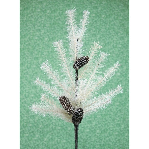 """Pack of 6 Off-White Pine and Cone Artificial Christmas Sprays 36"""" - WHITE"""