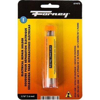 Forney 61473 Electrical Repair Rosin Solder, .75 Oz, 1/16""