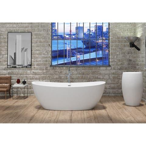 Manhattan 59-inch Solid Surface Freestanding Bathtub