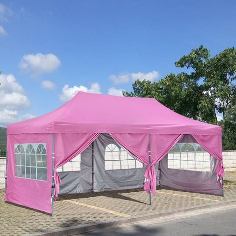 10x20 Ft Pop up Canopy Tent, Party Heavy Duty Instant Gazebo