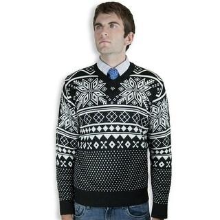 Retro V-Neck Jacquard Sweater (SW-037)