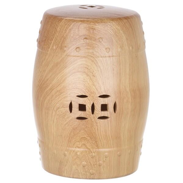 Wondrous Safavieh Acs4552 Ming Forest Ceramic Garden Stool Light Oak N A Gamerscity Chair Design For Home Gamerscityorg