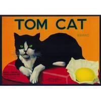 Tom Cat Lemon - Vintage Label (100% Cotton Towel Absorbent)