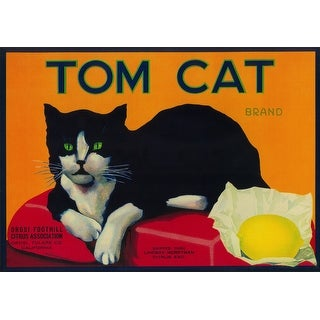 Tom Cat Lemon - Vintage Label (Cotton/Polyester Chef's Apron)