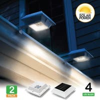 2 Pack- LUNALITE Square Solar Gutter/Fence Lights