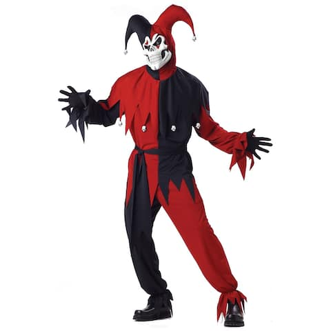California Costumes Wicked Evil Jester Adult Costume (Red/Black) - Black/Red