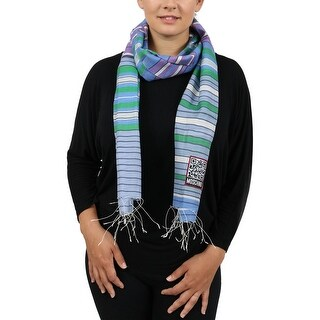 Moschino SCR11243/1 Blue Stripe Scarf - 21-74