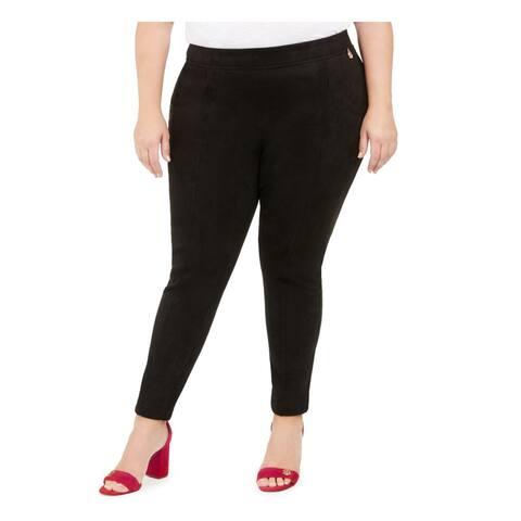 TOMMY HILFIGER Womens Black Skinny Wear To Work Pants Size 0X